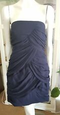 Wish spiral bandeau dress.Sz14/L.Silk x fully lined.Adhesive top.Exc cond.