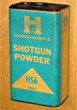 Vintage Empty Hodgdon'S Smokeless Hs6 Shotgun Powder Can Old Tin Vintage Hunting