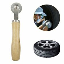"""7.2"""" Car Wooden Handle Bearing Roller Tire Repair Compaction Tyre Patch Tools"""