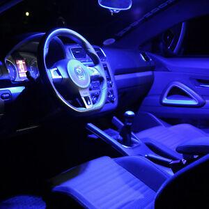 VW Polo V Typ 6R Interior Lights Set Package Kit 10 LED SMD blue 1634