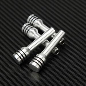 4x Silver Tone Aluminum Alloy Rotatable Door Lock Knobs Pins Cover for Car Truck