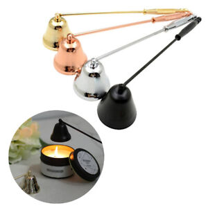 8Inch Handheld Candle Snuffer Bell Shape Metal Candle Stopper Extinguisher Craft