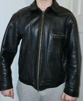 Lewis Motorradlederjacke aus 80er #Sehr gute Zustand #Große XL #Schwarz