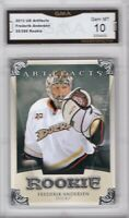 GMA 10 Gem Mint FREDERIK ANDERSEN 2013/14 UD Black Diamond ROOKIE Card LEAFS!