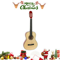 "New Acoustic Guitar 38""L Full Size Adult W/Guitar Pick&Accessories Xmas Gift USA"