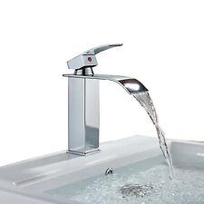 Waterfall Bathroom Faucet Basin Sink Faucet Chrome Mixer Tap Single Hole/3 Holes