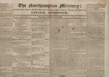 More details for the northampton mercury  january 14th 1832   original antique newspaper e2.780