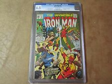 The Invincible Iron Man #27 CGC 6.5 Comic Book  1970  1st App. of Firebrand  KEY