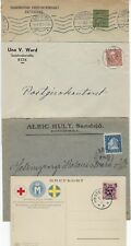 SWEDEN 1920s SEMI POSTAL TIED ON RED CROSS & POST CARD OF MOTHER & CHILD +3 COM
