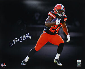 Browns Nick Chubb Authentic Signed 16x20 Photo Autographed BAS Witnessed