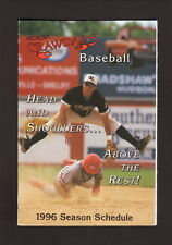 1996 Hickory Crawdads Schedule--Catawba Memorial Hospital