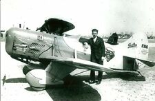 """Z.D. """"GRANNIE"""" GRANVILLE & GEE BEE RACING AIRPLANE B&W PHOTOGRAPHS 5"""" X 7"""""""