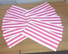 Sweets Bags Pink & White Strips Candy Party Food Safe Wedding Children Parties