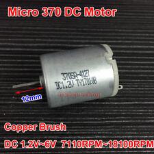 370 Motor DC 1.2V-6V 18100RPM High Speed Copper Brush 12mm Long axis Power Motor