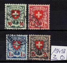 Schweiz Michel  194 z - 197 z, Satz  sauber gestempelt, gut erhalten siehe Bild