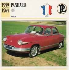 1959-1964 PANHARD PL17 Classic Car Photograph / Information Maxi Card