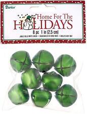 25mm Jingle Bells, Matte Green - 8 Bells