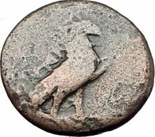 KYME in AEOLIS   Original 350BC Authentic Ancient Greek Coin EAGLE & VASE i61827