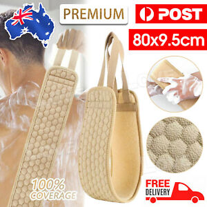 Bath Shower Exfoliating Back Strap Loofah Body Sponge Scrubber Spa Brush AU