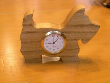 Vintage Scotty Scottie Scottish Terrier Dog Wooden Quartz Clock Working
