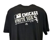 Chicago White Sox Majestic MLB Home Tee, Authentic Collection Big & Tall, Black