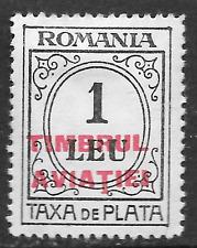 Romania taxe de plata 1 leu timbrul aviatiei - tax stamp - see scan