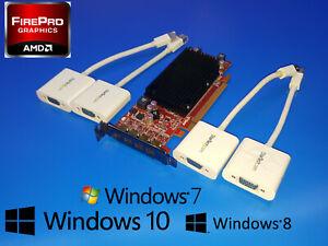 Dell Optiplex SFF 780 790 960 980 990 3010 3020 Quad 4 Monitor VGA Video Card