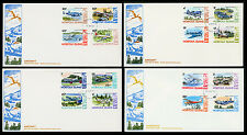 Norfolk Island 1980-81 First Day Covers Aircraft Definitive Stamps SC# 256-270