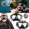 Professional Anti-Fog Swimming Goggles Half Face Underwater Diving Scuba Glasses