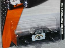 MATCHBOX '93 Ford Mustang LX SSP 5.0 Highway Patrol Police Car MBX Heroic Rescue