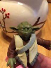 Yoda Figure Collectible With Vest Moveable Head Arms Body Star Wars VGUC