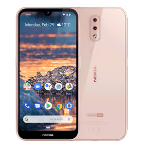 Nokia 4.2 (Unlocked) 32GB 4G LTE 5.71in 13MP 3GB RAM AI Waterdrop Pink