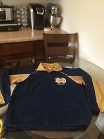Notre Dame Fighting Irish Russell Athletic Quarter Zip Fleece Sweatshirt Medium