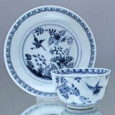 Meissen um 1740: Koppchen mit Fels und Vogel Dekor, Blaumalerei, Tasse, tea cup