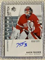 2019-20 SP AUTHENTIC KADEN FULCHER FUTURE WATCH ROOKIE AUTO RED WINGS /999