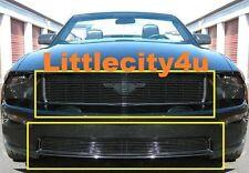 FOR 2005-2009 Ford Mustang GT V8 BLACK BILLET GRILLE COMBO INSERTS upper bumper