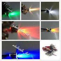 20X 3mm 5mm Pre wired LED Light Lamp 18cm Prewired 12V with Chrome Bezel Holder