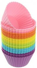 Freshware Silicone Standard Round Reusable Cupcake And Muffin Baking Cup (Pack