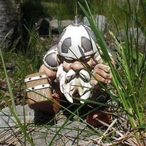 Viking Victor Norse Dwarf Gnome Statue Figurines Home Yard Decor