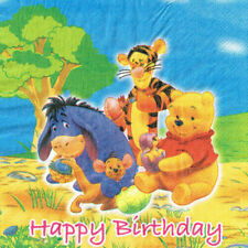 Vintage WINNIE THE POOH Birthday Cake LUNCH NAPKINS Party Supplies NEW