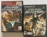 Star Wars: Battlefront II + StarFighter PS2 Bundle (PlayStation 2) *TESTED*