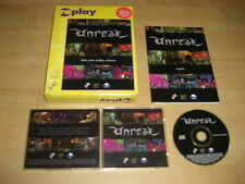 UNREAL 1 Pc Cd Rom Replay BIG BOX - FAST, SECURE POST