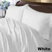 1000 TC Select Bedding Items-Doona/Fitted/Flat 100%Egyptian Cotton White Striped