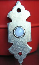 "Southwest Fordge Doorbell Button Satin Nickel Riel Door Bell Button Trim 4"" x 2"""