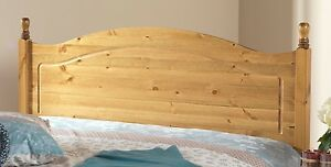 SOLID 5FT ANTIQUE PINE ORLANDO HEADBOARD TO FIT A DIVAN BED CAN MATCH FURNITURE