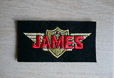 CLASSIC JAMES SHIELD EMBROIDERED MOTORCYCLE  PATCH-VILLIERS