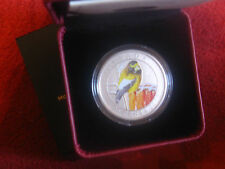 2012 Evening Grosbeak Canada Bird Series 25 Cent Over Sized Coloured Coin.