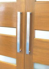 ENTRANCE DOOR PULL HANDLES, VARIOUS LENGTHS, BRUSHED STAINLESS STEEL