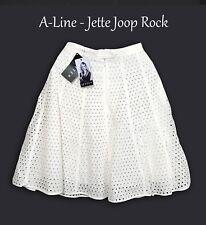 JETTE JOOP Rock Glockenrock A-Linie Sommer Gr XS 34 36 Knielanger creme Midi K23
