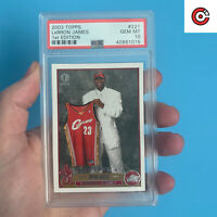 1st Edition 2003-04 Topps #221 LeBron James Cavaliers RC Rookie PSA 10 GEM MINT